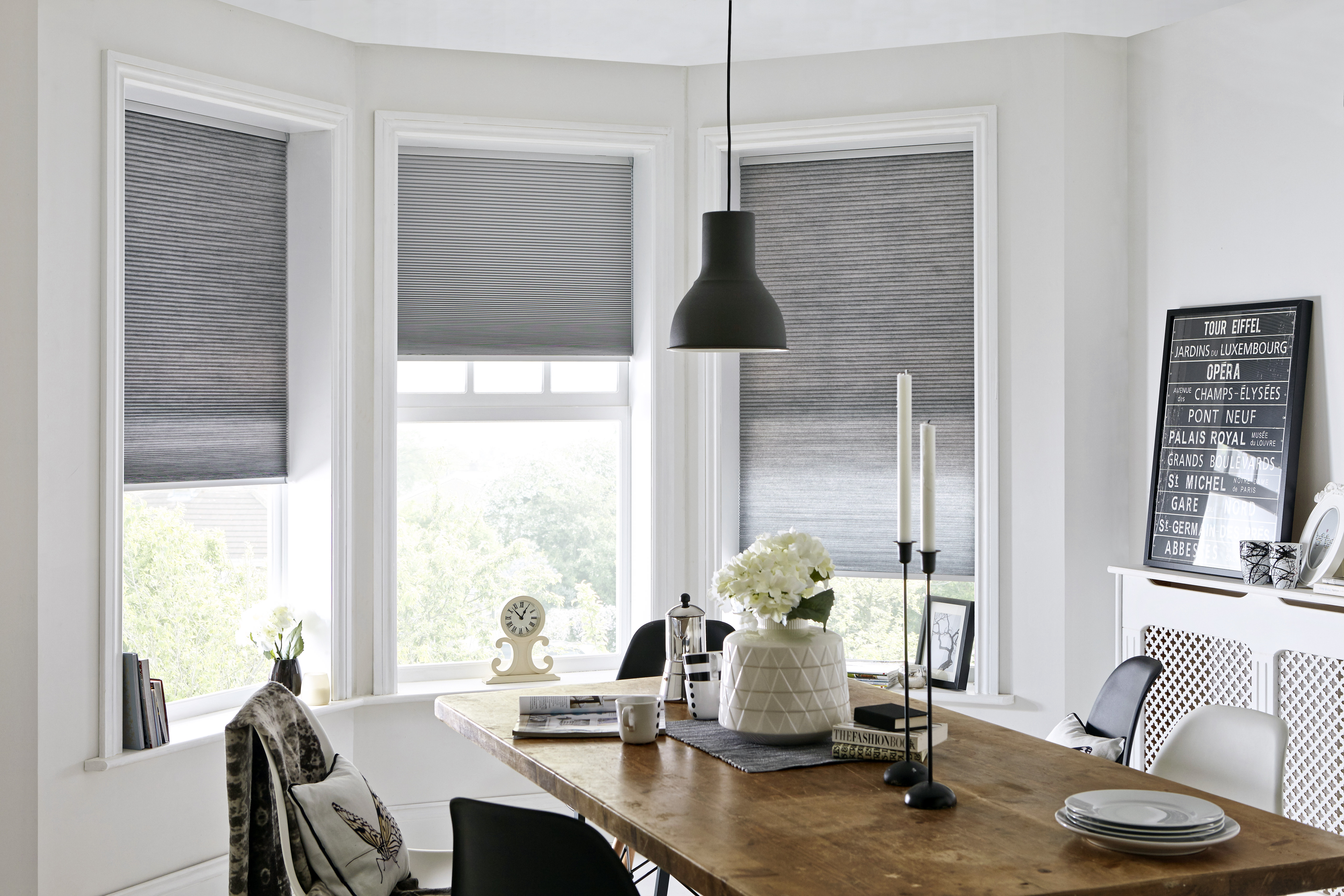 Pleated Window Blinds With Ultra One Touch Control
