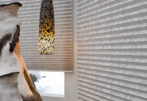 Installed Window Blinds Close up