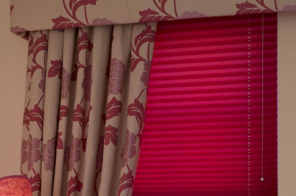 Installed Pleated Window Blinds