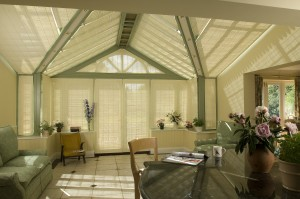 french pinoleum blinds installed over doors