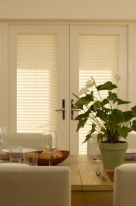 door blinds installed in a conservatory