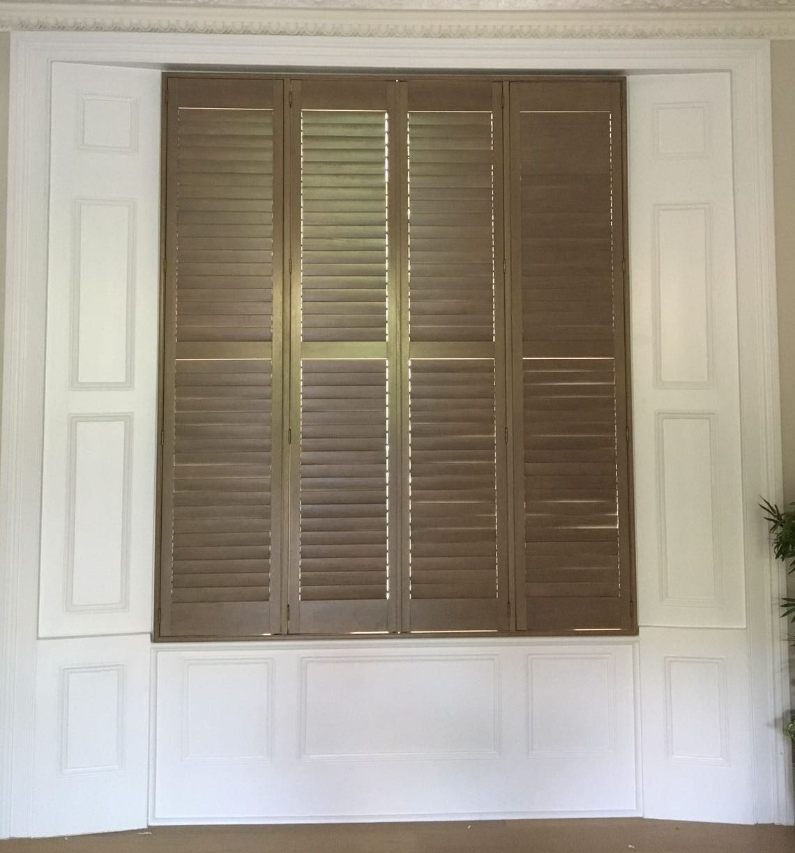 wooden window shutters appeal home shading. Black Bedroom Furniture Sets. Home Design Ideas