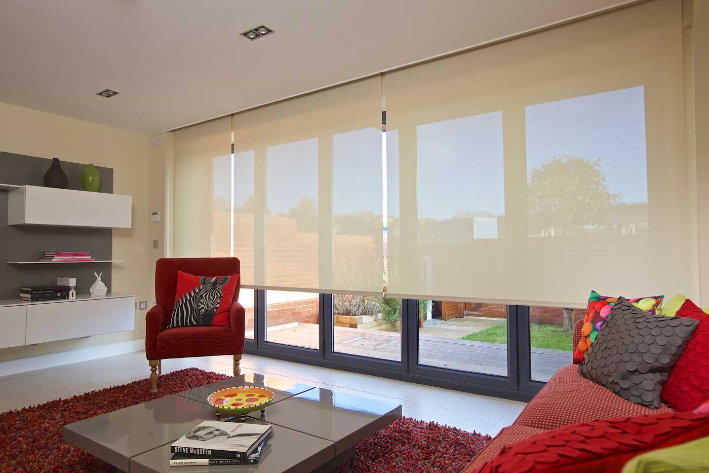 Cream large window blinds uk