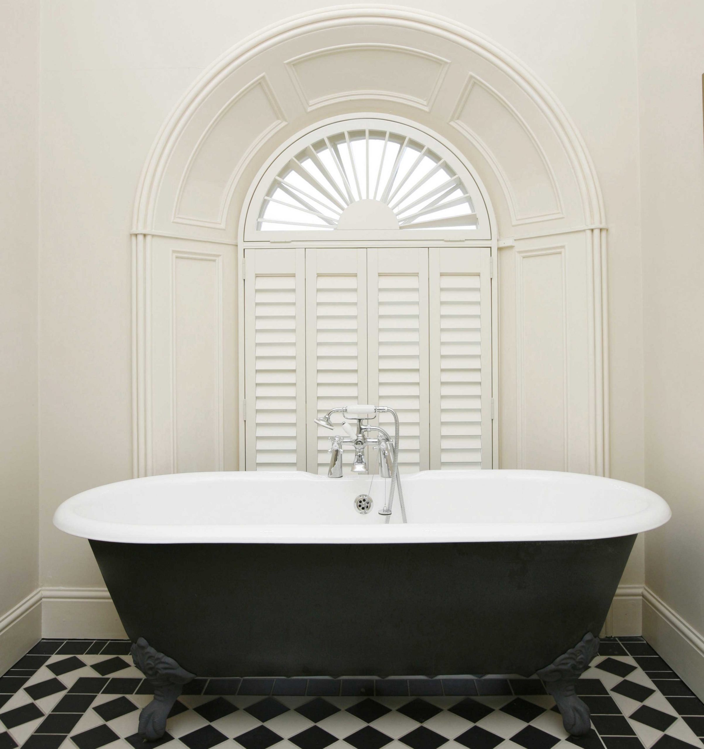 Waterproof bathroom window shutters