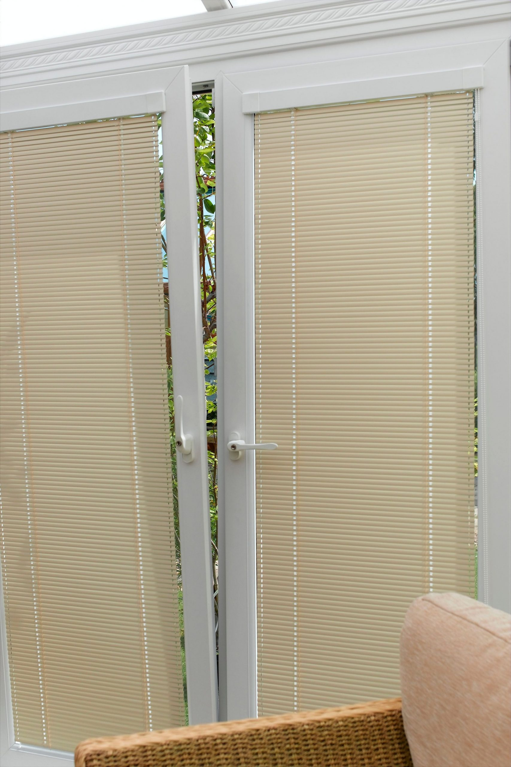 Blinds for conservatory doors