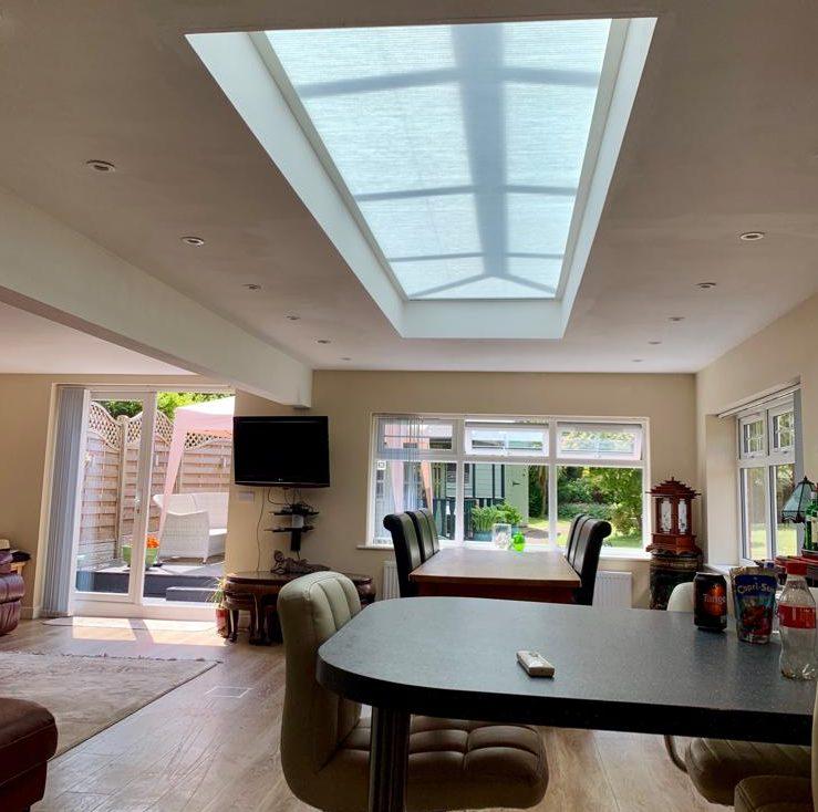 bespoke lantern roof blinds