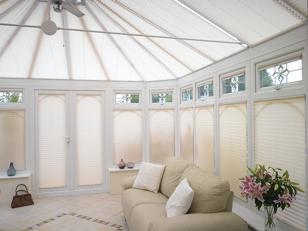 pleated conservatory roof blinds uk