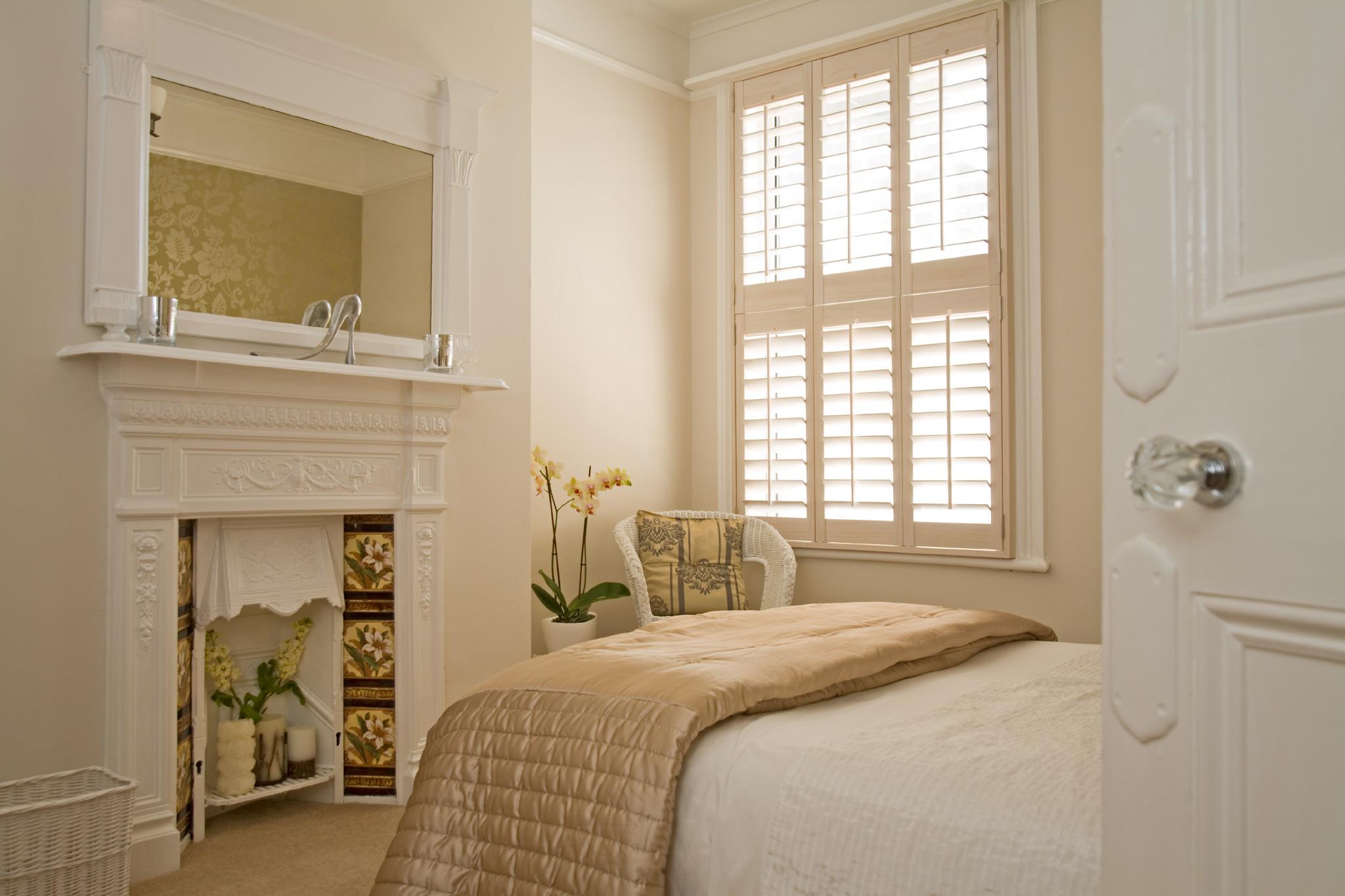 Bespoke bedroom window shutters