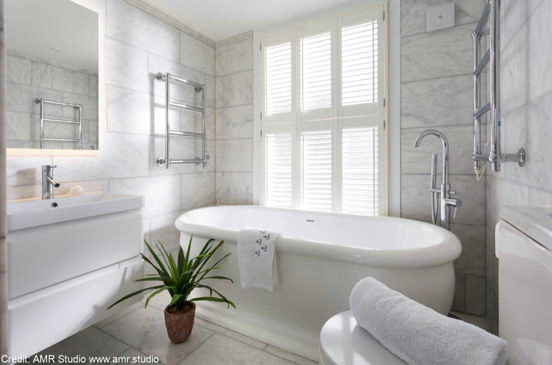 wood bathroom shutters