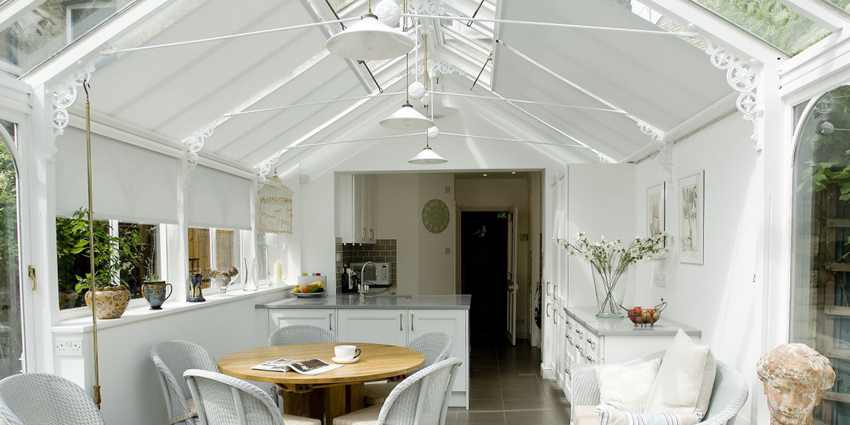 roller blinds for conservatory ceilings