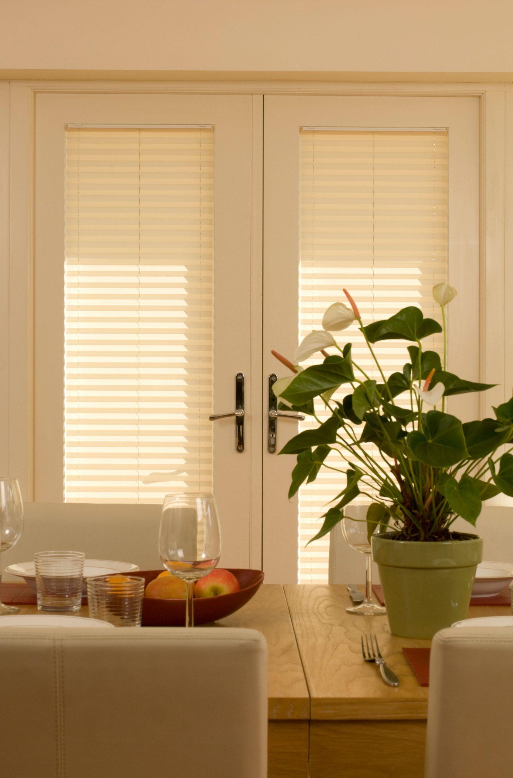 pleated door blinds