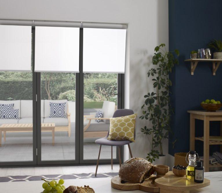 roller blinds for bifold doors