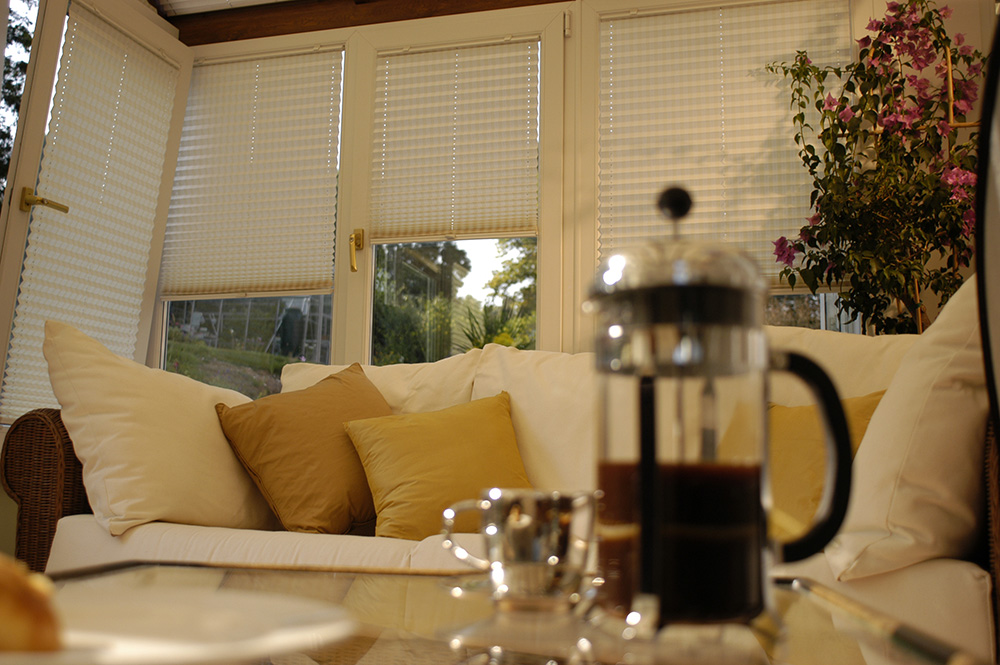 pleated conservatory blinds UK