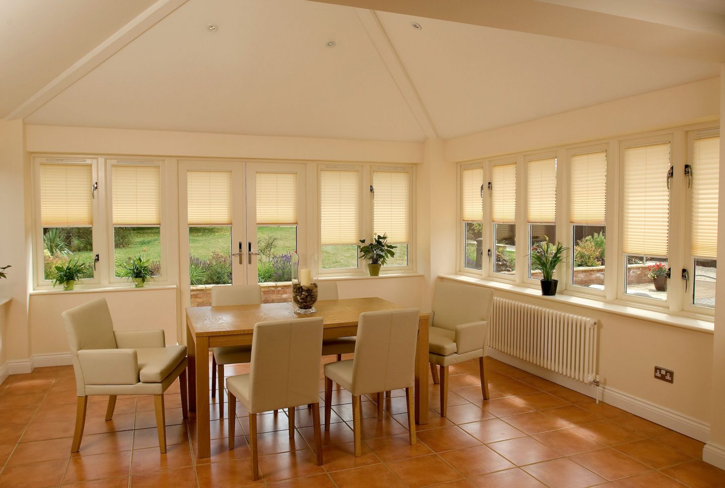pleated conservatory roof blinds